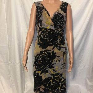 Banana Republic Sleeveless Floral Faux Wrap Dress